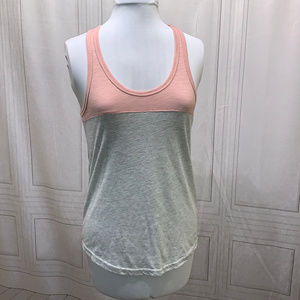 Reflex Pink and Gray Racerback Tank Top Medium
